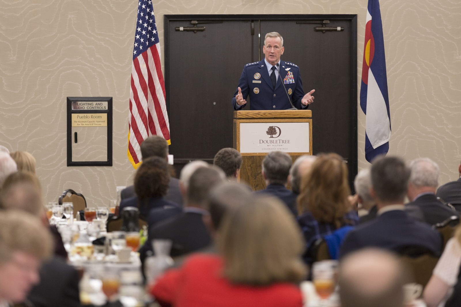 USNORTHCOM Commander talks importance of homeland defense with Colorado Community leaders